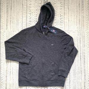 NWT Vineyard Vines full zip hoodie in gray heather